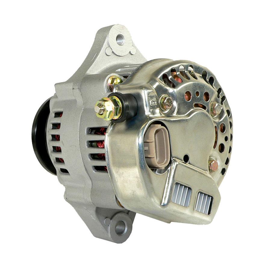 Kubota Alternator Voltage: 12 Volts Amps: 40 Amps Regulator Position: 9:00 Polarity: Negative Output Stud Dimensions: M6-1.0 Top DE Mounting Ear M8-1.25 Threaded