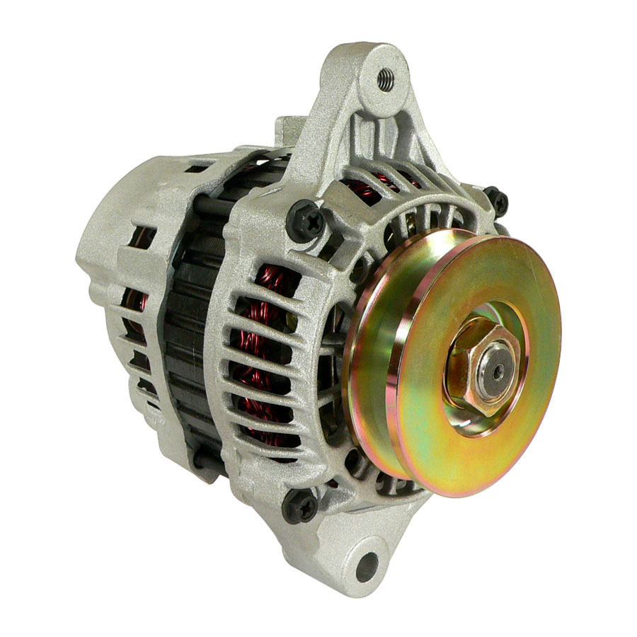 Kubota Alternator Alternator - Mitsubishi style 12 volt 45 amp Internal Regulator / Internal Fan1 groove pulley