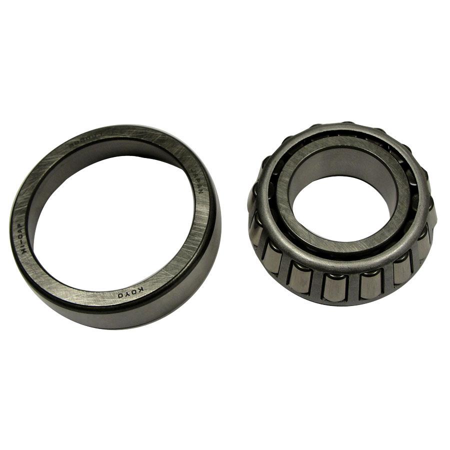 Kubota Bearing Bearing w/race. Race is 51.97mm outside diameter by 41.52mm inside diameter at begining of taper. Tapared roller bearing is 46.19mm outside diameter by 24.95mm inside diameter.