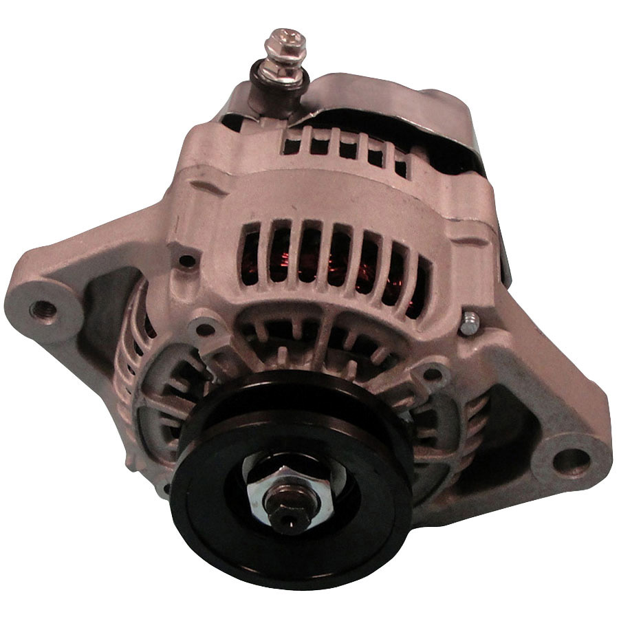 Kubota Alternator Voltage:12 Volts Amps:55 Amps Regulator Position:9:00 Polarity:Negative Output Stud Dimensions:M6-1.0 Reg. Location:InternalFan Location:Internal