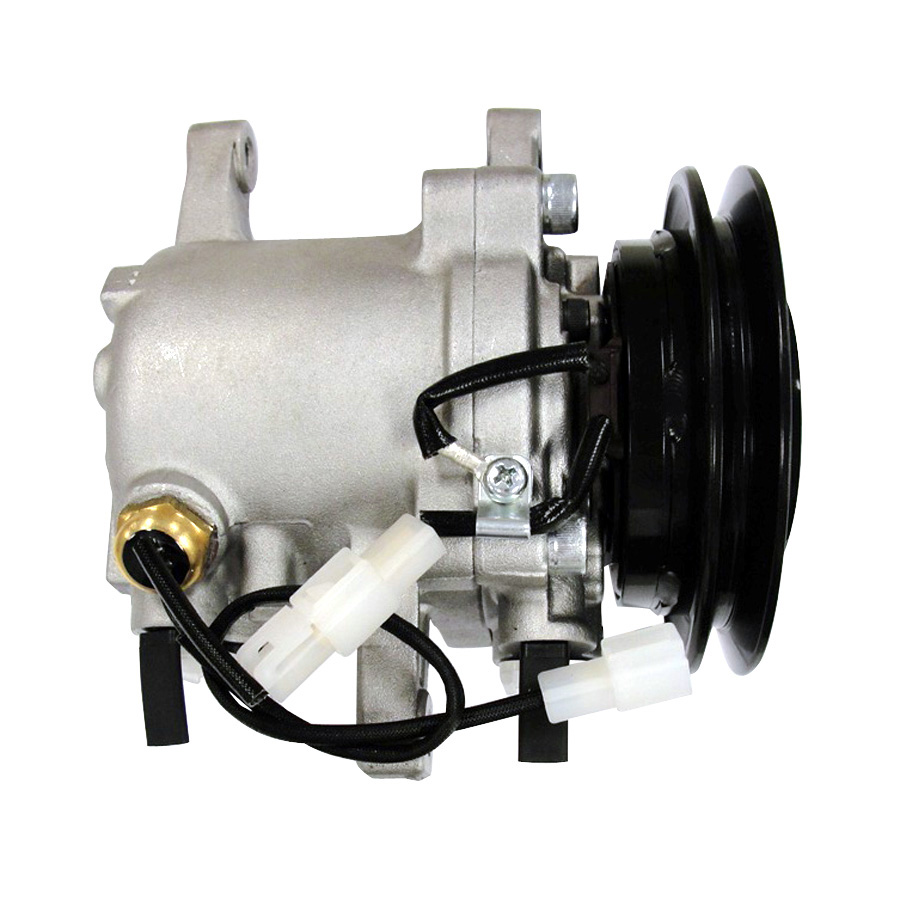 Kubota AC Compressor  Denso style compressor with single groove 4.4 clutch.