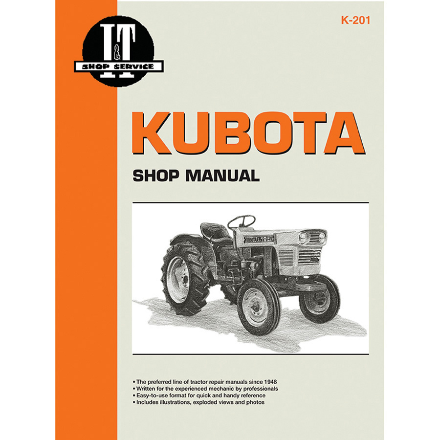 Kubota Service Manual 168 Pages. Includes Wiring Diagrams For All Models Except L175