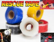 "This roll is 1 inch wide and 12 feet long. Stretch, Wrap and Rescue yourself.   Stretch it and it permanently bonds to itself. Tensile strength is 950 PSI.   Works in temperatures from -65 to  500 degrees fahrenheit. Electric insulation 8,000 volts. Waterproof and airtight. Made in USA. Can be used on fuel lines, radiator cooling hoses, vacuum compressed air lines,  and hydraulic lines. Resistant to fuel, oil and hydraulic fluid, heat and cold.  Four wheeler magazine says, ""This stuff is like duct tape on steroids!\""  The only silicone tape used by the US Army vehicle & tank battle damage assessment kit."